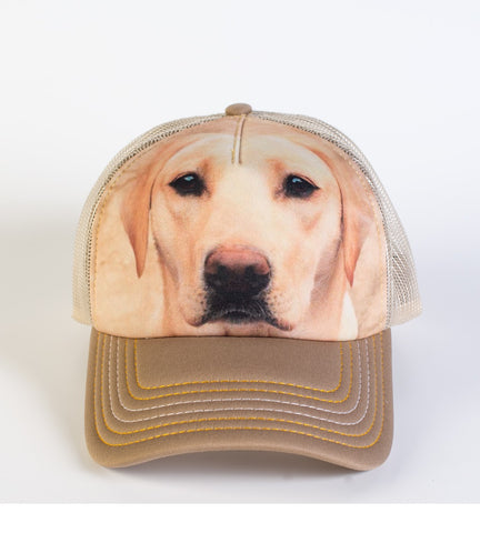 Dog Trucker Hat | Yellow Lab Portrait-Gifts from DePanda