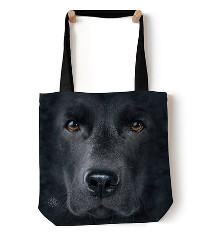 Dog Tote Bag | Black Lab Face-Gifts from DePanda