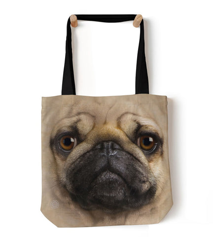 Dog Tote Bag | Pug Face-Gifts from DePanda