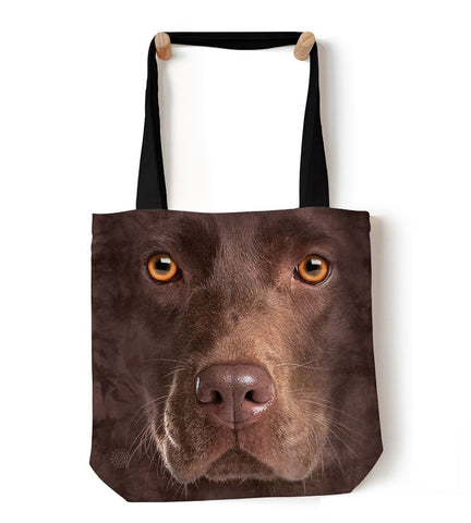 Dog Tote Bag | Chocolate Lab Face-Gifts from DePanda
