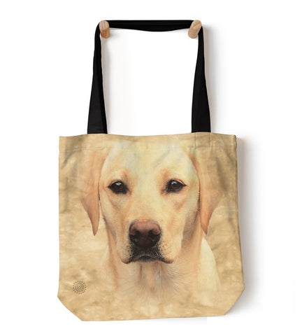 Dog Tote Bag | Yellow Lab Portrait-Gifts from DePanda