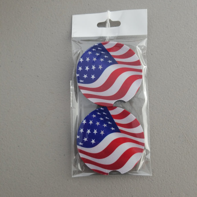 American Flag Car Coasters