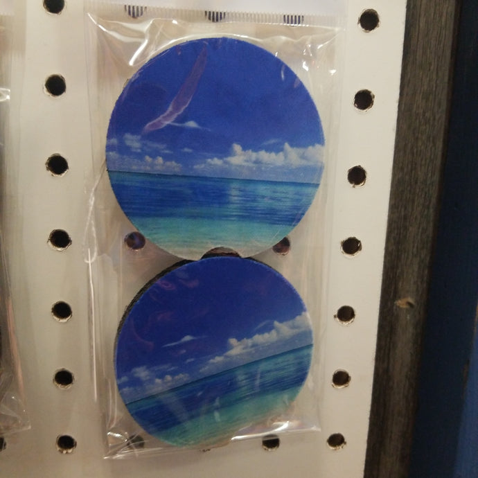Beach Fun Car Coasters