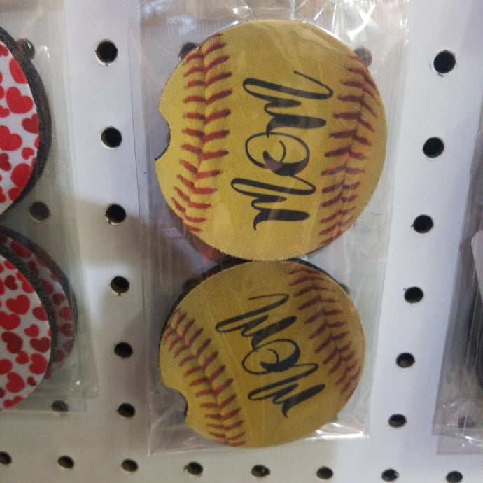 Softball Mom Car Coasters