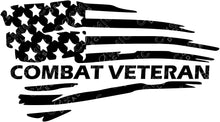 Load image into Gallery viewer, Veteran Flag Decal - Custom Designation Available