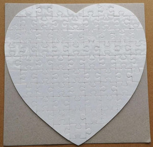 Personalized Heart Shaped Jigsaw Puzzle (75 Piece)