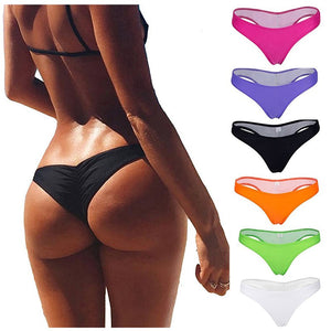 d3a53b35030 SAYFUT Women s Hot Summer Brazilian Beachwear Bikini Bottom Thong Swimwear  Classic Cut Bottoms Biquini Swim Short Swimsuit