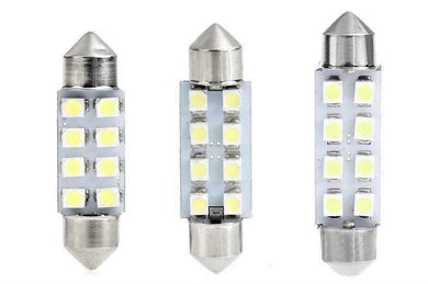 02100 Gunn 12V DC Led Festoon Bulb 31mm Long 7020 4SMD Style.