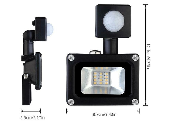 03106 Merge 10W 240V AC Flood Light with Sensor Plug Excluded Celebration Efficient Diamonds Awesome Glowing.