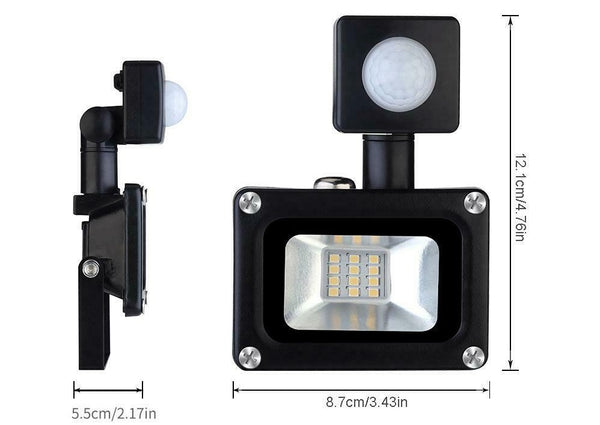 03106 Merge 10W 240V AC Flood Light with Sensor Plug Excluded Efficient Diamonds Glowing.