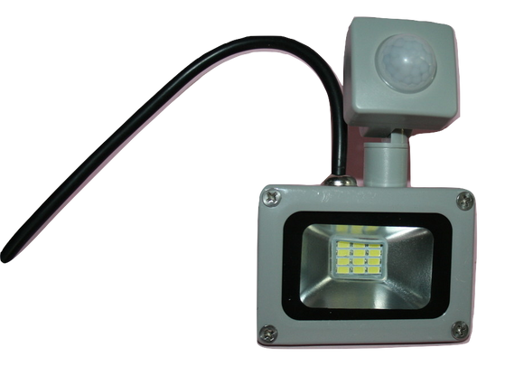 03106 Gunn 10W 240V AC Flood Light with Sensor And Plug Celebration Efficient.