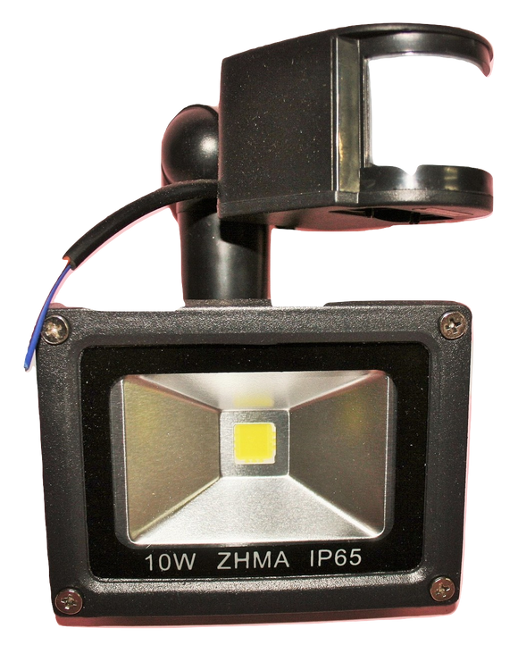 03110 Gunn 10W 12V DC Floodlight With PIR Sensor Efficient Diamonds.