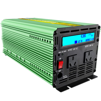 04117 Gunn Edecoa 1500W/3000W Pure Sine Wave 12V-240V Power Inverter Energy Outback.