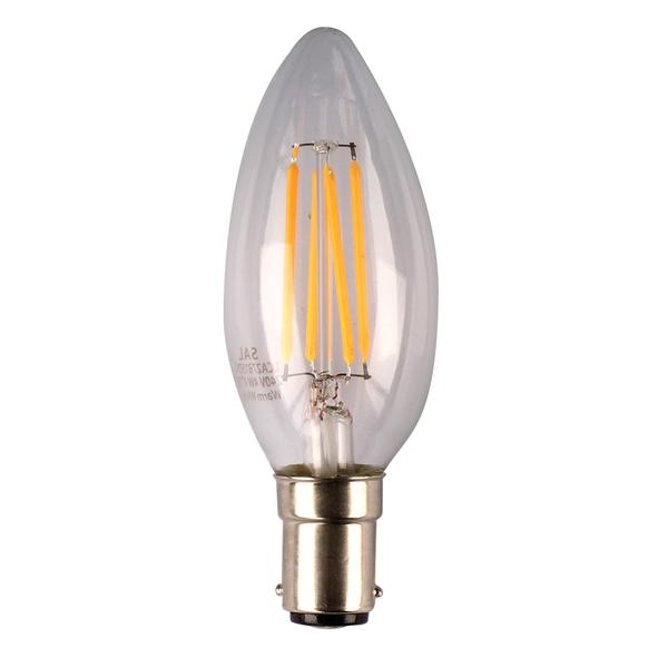 04138 Gunn Sal 4W 5K LCA50B15DC Candle Replacement Bulb Style.