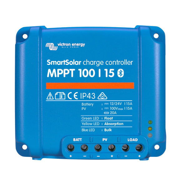 15112 Gunn Victron MPPT Blue Tooth Smart Charge Controller 100/15 Energy.