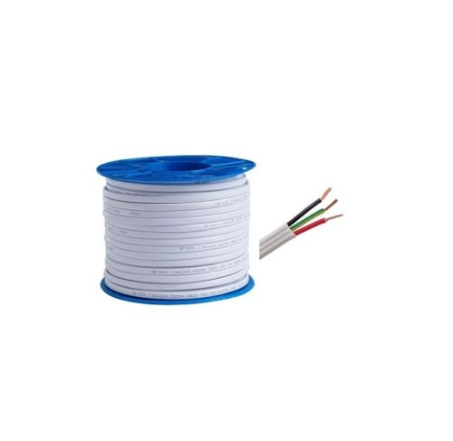 17121 Gunn Cable Flat 4mm Twin & Earth PVC/PVC 100Mt Roll Built.