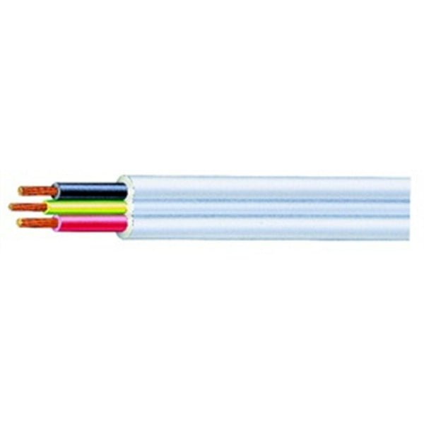 17122 Cable Flat 6mm Twin & Earth PVC/PVC Sold By The Mt Built.