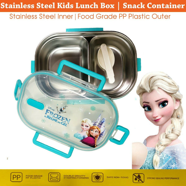 18124 Childs Frozen Elsa Stainless steel Food Lunch Box BPA Free Celebration Awesome.