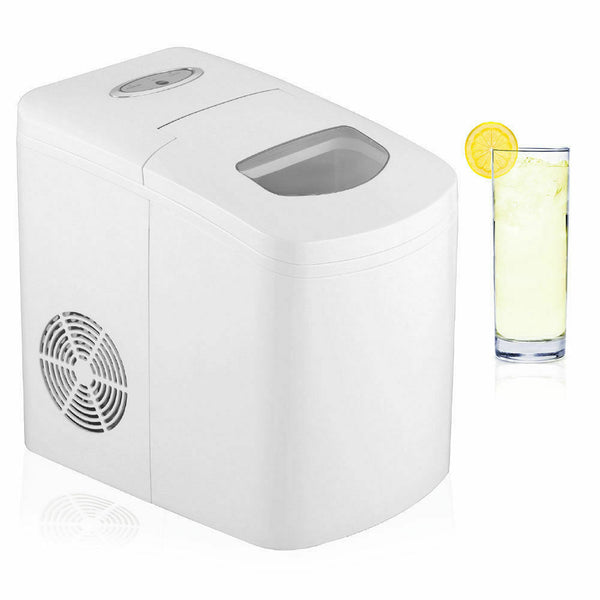 18125 Merge Ice Cube Maker/Electric Portable Machine/auto 150w/10kg in 24hrs White Celebration