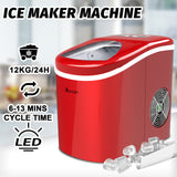18126 Merge 2.2L Ice Cube Maker Commercial/Home Portable Countertop Red Celebration.