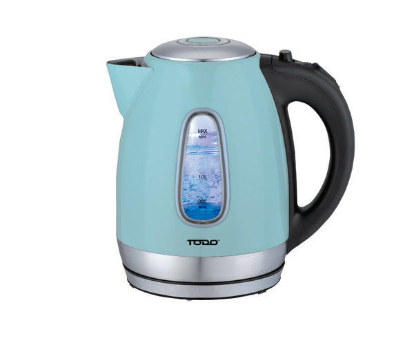 18135 Merge 1.7L TODO Appliance Stainless Steel Cordless Kettle 2200W Blue Celebration