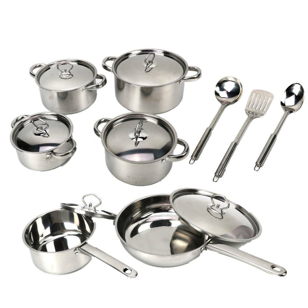 18143 Merge Appliance Stainless Steel 15-Piece Cookware Set Celebration
