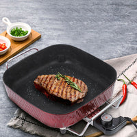 18148 Merge Appliance Electric Frypan Roast Frying Pan Steaming Temp Control With Glass Lid Celebration Awesome.