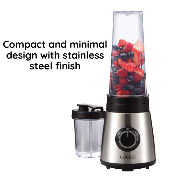18149 Merge Lucca Appliance 300ml And 600ml Cup Sizes Blender Stainless Steel Smoothie Juicer Mixer Celebration
