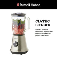 18152 Merge Appliance Russell Hobb 2L Glass Jug Blender Ice Crusher Nut Grinder Fruits Vegetables Celebration