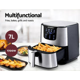 18154 Merge Appliance Devanti Air Fryer 7L LCD Oil Free Oven Fryer Kitchen Cooker Celebration