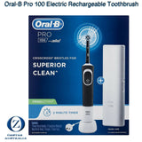 18196 Merge Health Oral B Pro 100 Electric Rechargeable Tooth Brush Cross Action Travel Case AU Plug