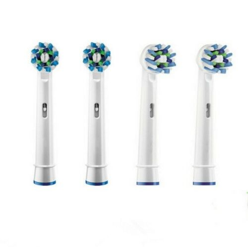 18202 Merge Health Cross Action Oral B Compatible Electric Tooth Brush Replacement Brush Heads x4