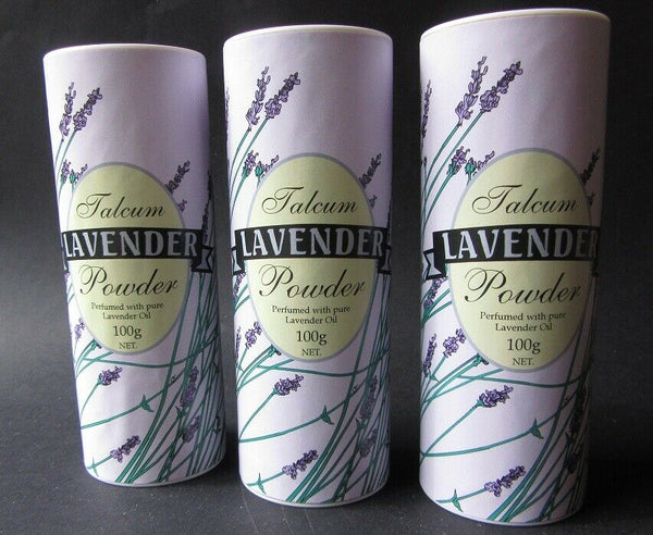 18214 Merge Powder Lavender Perfumed Talcum Powder From Tasmania 3X100g