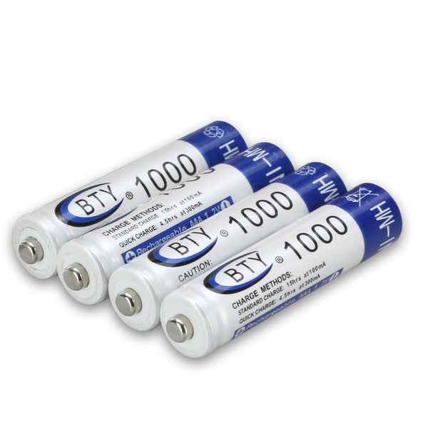 18235 Merge Pack Of 4 BTY AAA Rechargeable Battery 1.2V 1000mAh NI-MH Celebration Outback Awesome