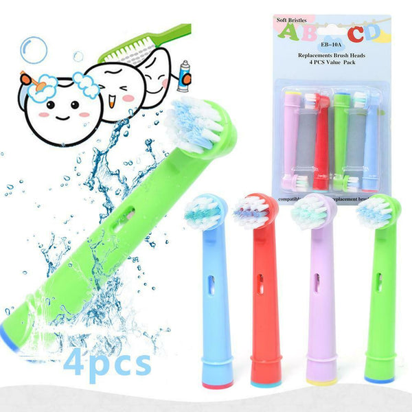 18205 Merge Health Children Kids Electric Tooth Brush Heads Oral B compatible Replacement brush 4 Pieces