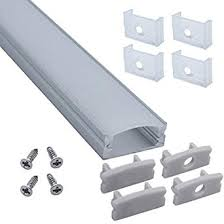 22103 Gunn Aluminum U Channel Flexible Clear Diffuser Sale.