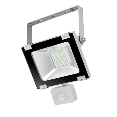 23100 Gunn 30W 240V AC Flood Light Black With Sensor Efficient Celebration Sale.