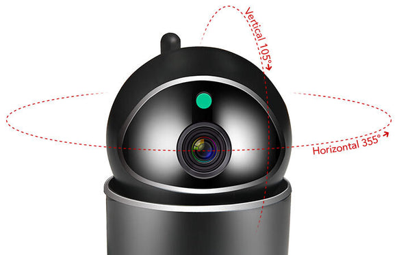 23129 D Gunn Elinz Wifi Security Camera Smart auto Tracking Celebration Secure BLACK.