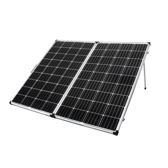 25135 Gunn 300W Folding Solar Panel Mono Caravan Camping Battery Charging MPPT Controller Outback Sale.
