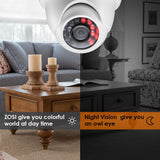 25136 Gunn ZOSI 4PK 1500TVL 720P Day Night Indoor Outdoor CCTV Security System Secure.