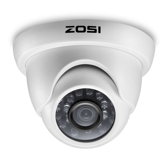 25136 Gunn ZOSI 4PK 1500TVL 720P Day Night Indoor Outdoor CCTV Security System Celebration Secure.