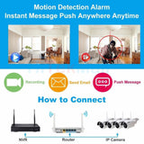 25137 Gunn Felong Genesis2 960p HD Wireless IP Camera Security Video surveillance system 4 cameras Secure.