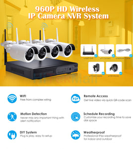 25137 Gunn Felong Genesis2 960p HD Wireless IP Camera Security Video surveillance system 4 cameras Celebration Secure.