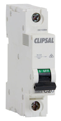 5109 Gunn Clipsal Circuit Breaker Single Pole 16AMP Safety.