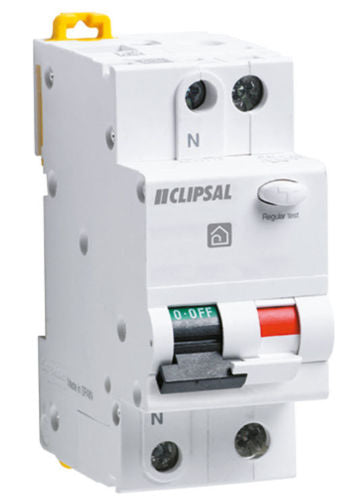 5123 Gunn Clipsal Combination RCBM 225-30 2 Pole 25AMP Safety Switch.