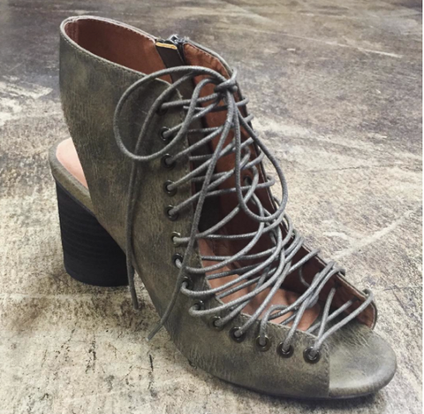 Jeffrey Campbell Covet Lace Up Heels