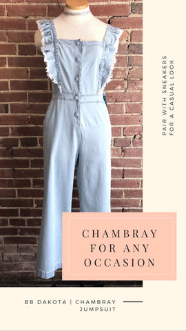 Chambray For Any Occasion -- BB Dakota Chambray Jumpsuit