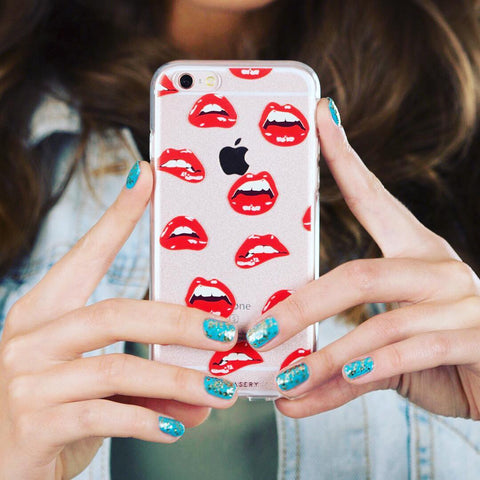 The Casery First Base Lip Print iPhone Case - SWANKBOUTIQUE.COM