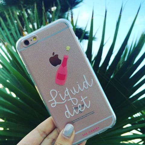 The Casery Liquid Diet Champagne iPhone Case - SWANKBOUTIQUE.COM