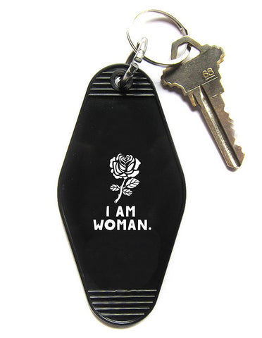 I Am Woman Key Tag